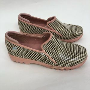 Sperry Top Sider Houndstooth Rubber Rain Shoe 7.5